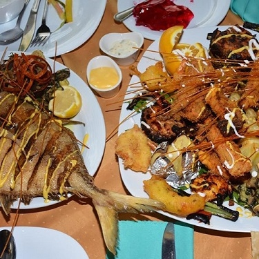 رستوران باراکودا -منو دریایی